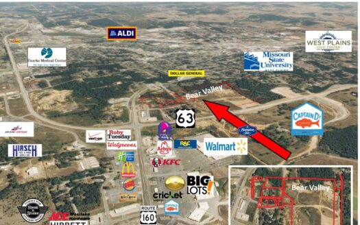 photo for a land for sale listing for Commercial property for sale in Missouri Ozarks on Hwy 63