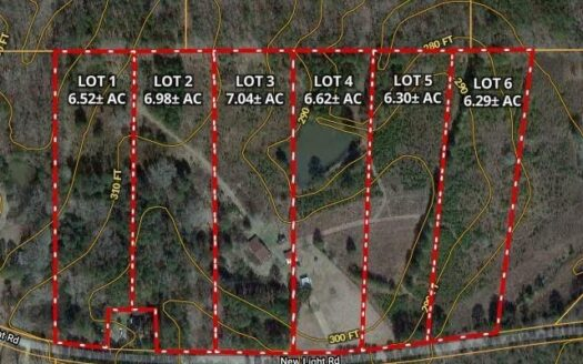 photo for a land for sale listing for 7.04 Acres - Lot 3 New Light Rd